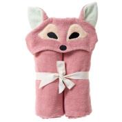 Breganwood Organics Kids Hooded Towel, Playful Fox - Woodland Collection