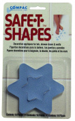 Compac Industries Safe-T-Shaped Bath-Tub Mat, Blue Star, Large