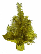 30CM TINSEL CHRISTMAS TREE GOLD