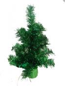 30CM TINSEL CHRISTMAS TREE GREEN