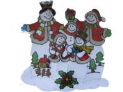 SNOWMAN FAMILY 320X300MM GEL CLING WINDOW STICKER CHRISTMAS DECORATION