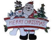 MERRY CHRISTMAS 280X330MM GEL CLING WINDOW STICKER CHRISTMAS DECORATION