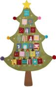 Gisela Graham Fabric Christmas Tree Advent Calendar