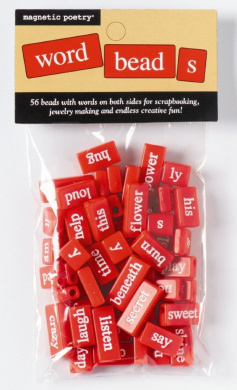 Magnetic Poetry Red Word Beads