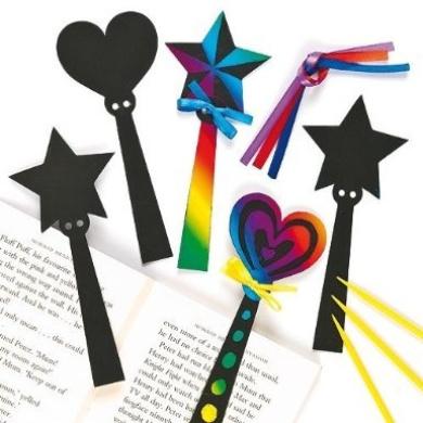 Magic Wand Scratch Art Bookmarks (Pack of 12)