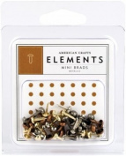American Crafts Elements Mini Brads, Metallic