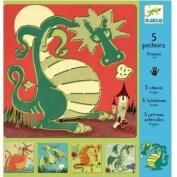 Djeco Dragon Stencils
