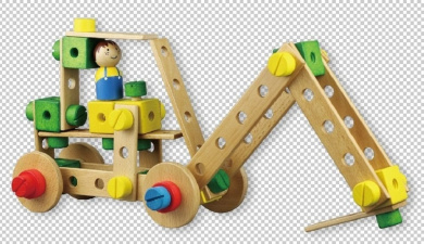 LELIN WOOD WOODEN CONTRUCTION KIT CHILDRENS KIDS MODEL BUILDING ACTIVITY TOY