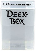 Clear Deck Box for Trading Cards and 100 Clear Sleeves [Toy]