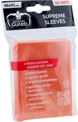 Ultimate Guard - Ultimate Guard 50 pochettes Supreme Sleeves Orange