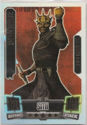 Topps Star Wars Force Attax Series 2 Force Masters Savage Opress No.239 Rainbow Foil Card