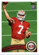 2011 Topps Football Card # 413 Colin Kaepernick RC / (passing the football) - San Francisco 49ers (RC - Rookie Card) NFL Trading Card