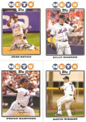 2008 Topps New York Mets Complete Team Set (20 - Baseball Cards from both Series 1 & 2) Includes David Wright, Jose Reyes, Carlos Delgado and more