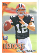 2010 Topps NFL Football Card # 194 Colt McCoy RC - Cleveland Browns ( Rookie Card) NFL Trading Card in a Protective ScrewDown Case!
