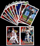 2010 Topps St. Louis Cardinals Series 1 Team Set - 11 Cards including Albert Pujols, Smoltz, Shumaker, Holliday, Pujols MVP card & more