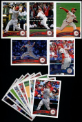 2011 Topps Cincinnati Reds Complete Series 1 & 2 Team Set - Deluxe Arcylic 25 Cards including Cueto, Votto, Bruce, Stubbs, Heisey, Leake, Aroldis Chapman RC, Yonder Alonso RC & more