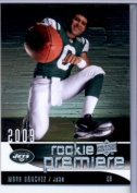 2009 Upper Deck Rookie Premiere Football Card #18 Mark Sanchez (RC) - New York Jets (Rookie Card) Mint Condition - In Protective Display Case!