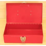 Excel 28cm . W x 16cm . D x 7.9cm . H Portable Steel Tool Box, Red