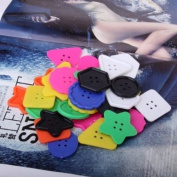 Big Plastic Multicolor Buttons of Different Shapes for Kids and Adult Crafts
