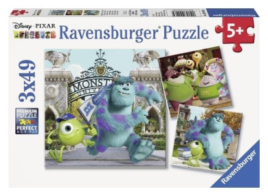 Ravensburger Disney Pixar: Mike and Sully (3 x 49-Piece) Puzzles in a Box