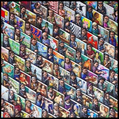 Jumbo James Milroy Painters Painting Jigsaw Puzzle (625 Pieces)