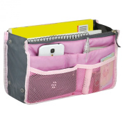 TRIXES Travel Cosmetics Pouch, Professional Bag Insert Organiser for MUA Pink