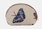 Signare Fashion Canvas/Tapestry Cosmetic Bag/Make-up Bag in Butterfly Design