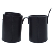 Mini Leather Brush Cup Holder Case From Royal Care Cosmetics