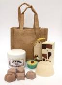 Chocolate Gift Bag - Bath Bombs, Shampoo bar, Soap, Shower Cream, Melt