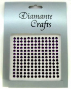 169 x 4mm Purple Diamante Self Adhesive Rhinestone Body Vajazzle Gems - created exclusively for Diamante Crafts