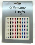195 x 3mm Mixed Colour Diamante Vajazzle Rhinestone Gems.