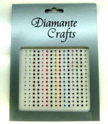 225 x 2mm Mixed Diamante Self Adhesive Rhinestone Body Nail Vajazzle Gems - created exclusively for Diamante Crafts