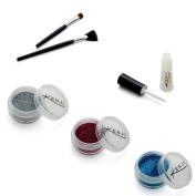 La Dot KTP001 Tattoo Sequin Set with Body Glue and 2 Application Brushes