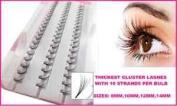 10mm **EXTRA THICK** Individual Eyelash Extension False Eye Lashes Cluster Flare