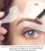 Eyebrow Stencil 5 shapes stencils from Tana Cosmetics