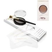 Christian Eyebrows BROWN Stencils, Powder and Brush Set