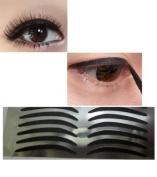 14 pairs simple black eyeliner stickers , eyeliner stick on, glam