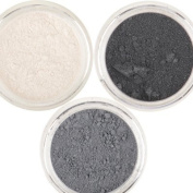 Honeypie Minerals Mineral Eyeshadow - Smokey Collection Set (3 x 1g) Smokey Black, Charcoal Grey and Pearlescent