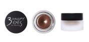 KOREAN COSMETICS, Style NANDA_ 3 CONCEPT EYES, GLAM CREAM SHADOW # GLAMOROUS (5g, Long Lasting, Shimmering pearls. Soft Brown) [001KR]