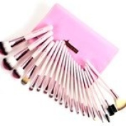 Fr.ulein3° 8 Professional New 20 Pcs PINK CANDY Makeup Brushes Set with Case
