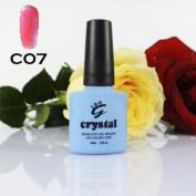 ICE BEAUTY NAIL CRYSTAL UV LED GEL BARBIE PINK C07 IBN