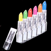 Set of 6 Colour Lipsticks green yellow pink