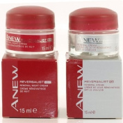 Avon Anew Reversalist 40+ Moderate Signs Of Ageing- Renewal DAY & NIGHT Creams 15ml Jar of Each