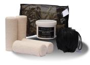 Mens instant inch-loss/detox Home Body Wrap Kit 500ml bag/tags