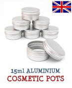 24 x Lip Balm Tins 15ml Capacity (Empty) for making own cosmetics/beauty products