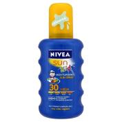 Nivea Sun Children's Sun Spray SPF30 Long Lasting Water Resistant Coloured Spray 200ml