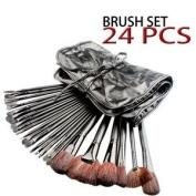 Concept4u- Professional 24pc Cosmetic Makeup Brush Set Kit with Black Soft Case (Handy & Portable) For Eye Shadow, Blush, Concealer, Eyeliner etc