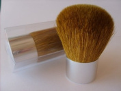 Erth Mineral Luxury 2 piece Kabuki Brush Set 56mm. Full Coverage Super Soft Tapers Chrome Base All Natural Bristles Duo Pack