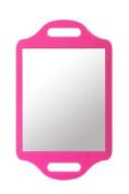 Matty Bond Street Hairdressing Beauty Salon Mirror with Twin Handle Pink