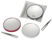 Magnifying Mirror X 15 with tweezers and carry pouch
